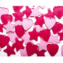 Hearts & Stars Plastic Weights (Pink) 100pcs